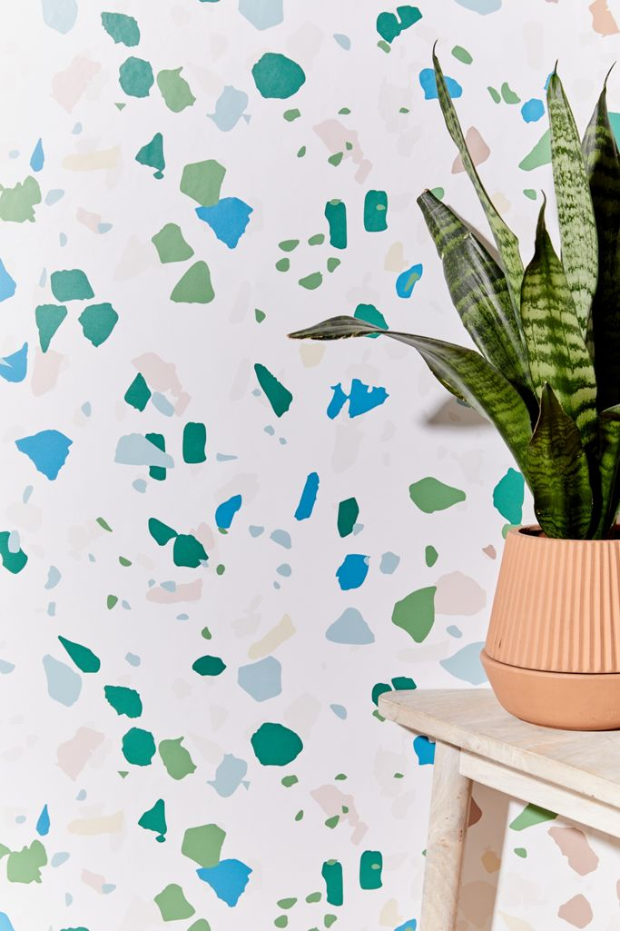 Terrazzo Removable Wallpaper Urban Outfitters