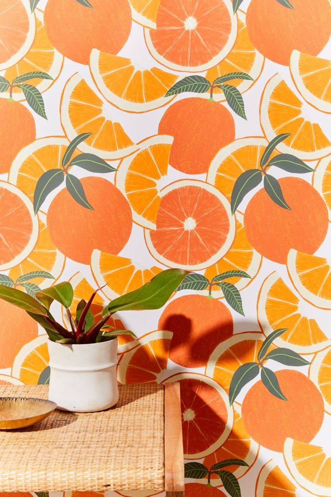 Orange Harvest Removable Wallpaper Urban Outfitters