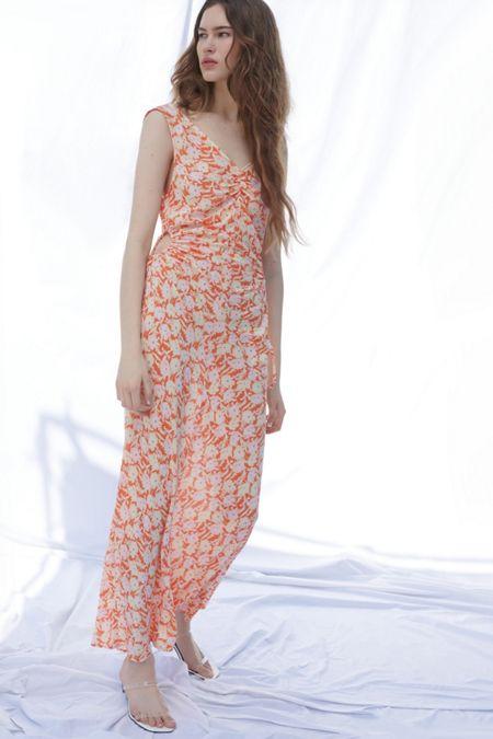 b35e6322be UO Gala Cinched Side Cutout Maxi Dress