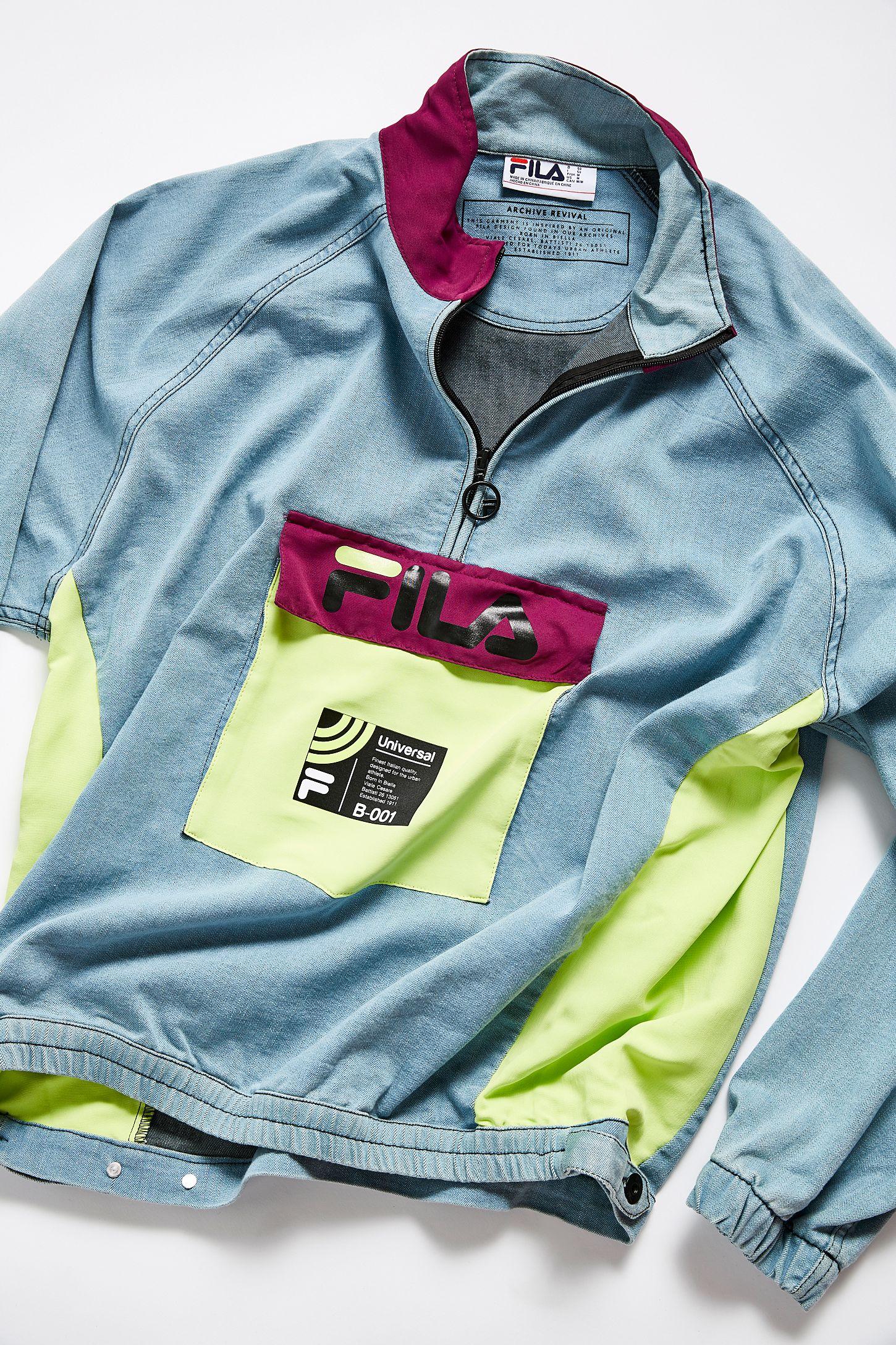 dobrze znany niskie ceny najlepsze buty FILA UO Exclusive Doug Denim Track Jacket