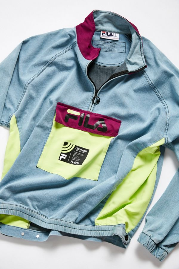 cd41e3059 FILA UO Exclusive Doug Denim Track Jacket