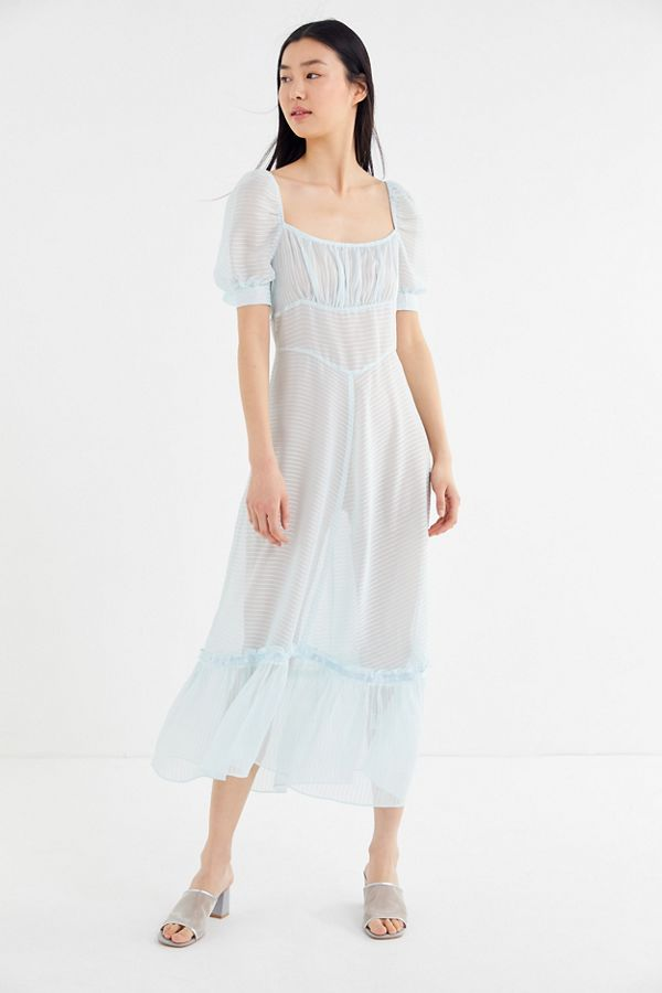2e0be454ab515 UO Salem Sheer Puff Sleeve Maxi Dress