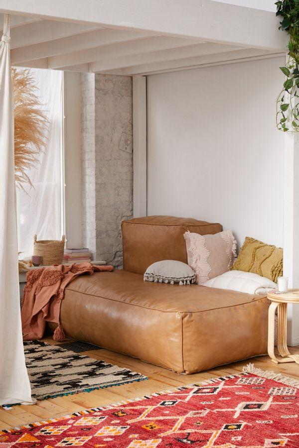 Ama Recycled Leather Floor Cushion