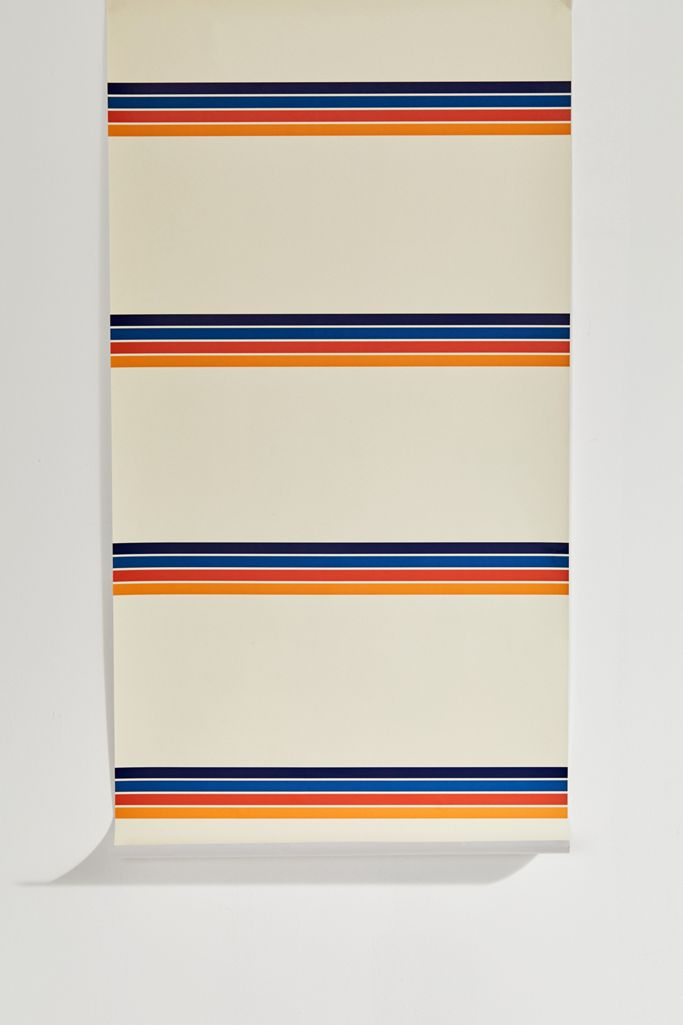 Retro Stripe Removable Wallpaper Urban Outfitters
