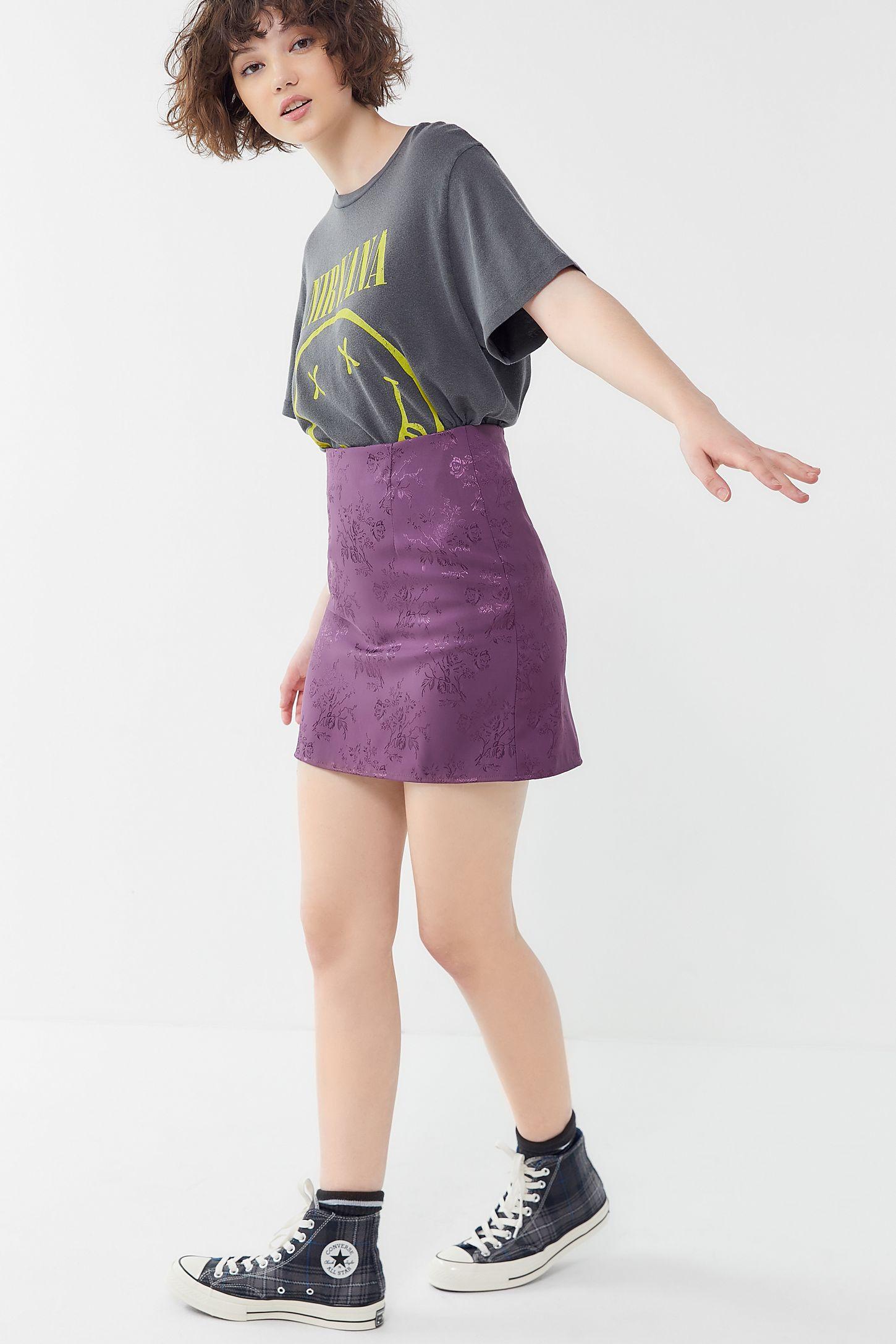 cea084e653687 Slide View  4  Urban Renewal Remnants Jacquard Mini Skirt