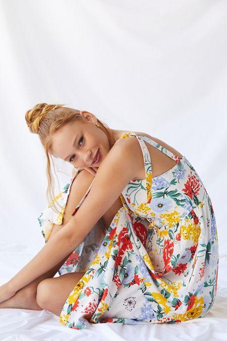 5760417a602 UO Positano Linen Tie-Shoulder Midi Dress