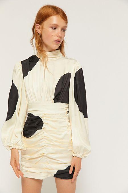 6b2df569f23 C/meo Collective Sectional Polka Dot Long Sleeve Mini Dress