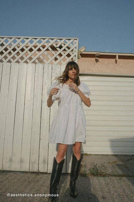 5e0147e2f2 UO Tie-Back Babydoll Mini Dress