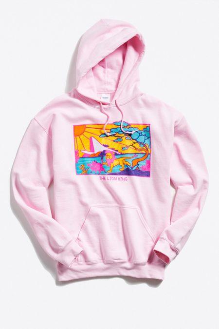 19f49d0431cc Lion King Hand Drawn Hoodie Sweatshirt
