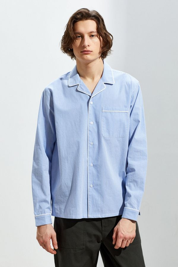 974f6958d078 UO Pajama Stripe Oversized Button-Down Shirt | Urban Outfitters Canada