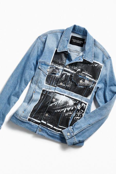 4459e91a55be0 Calvin Klein X Andy Warhol Rodeo Denim Trucker Jacket