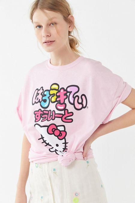 d69fd4cd1ffd Hello Kitty Oversized T-Shirt Dress