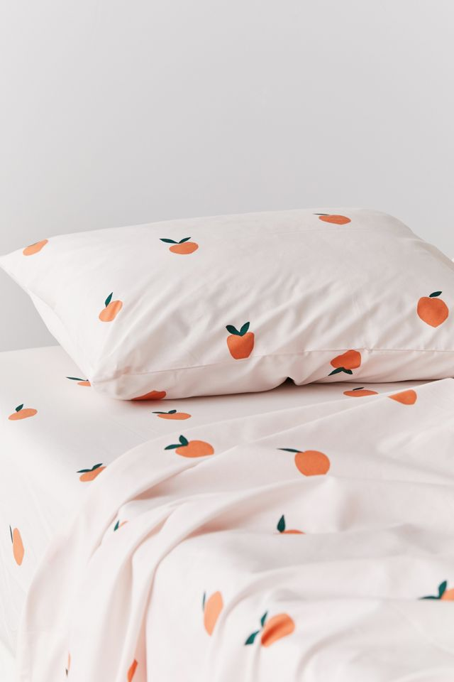 Allover Peaches Sheet Set Urban Outfitters