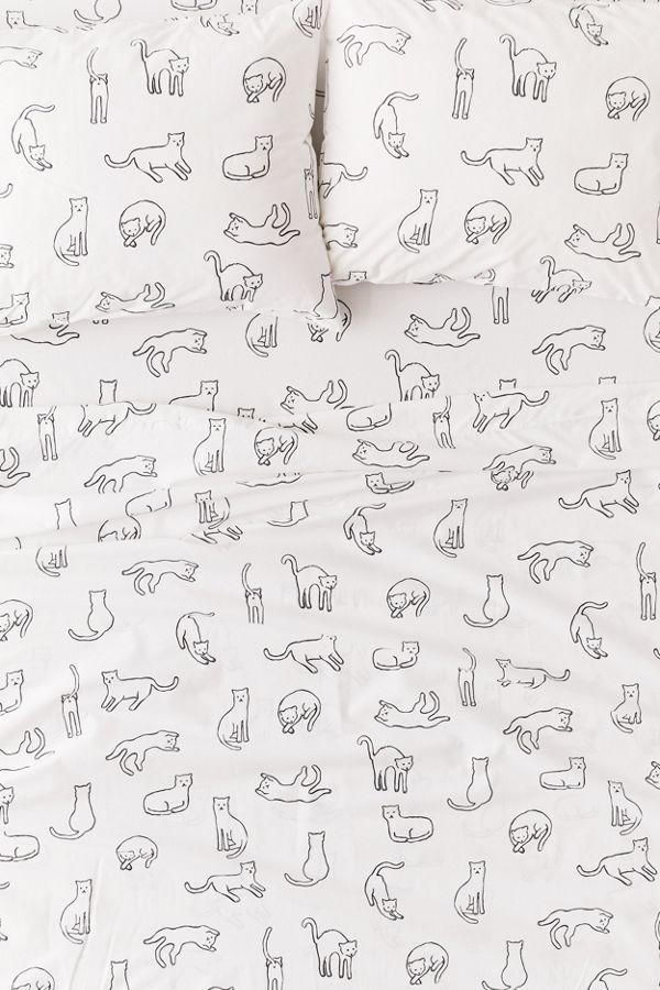 Slide View: 2: Allover Cats Sheet Set