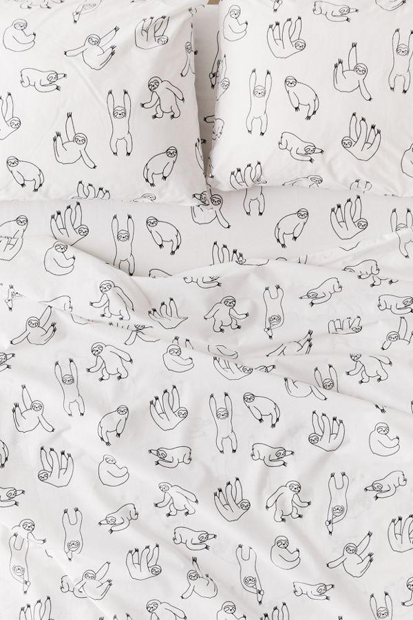 Slide View: 2: Allover Sloths Sheet Set