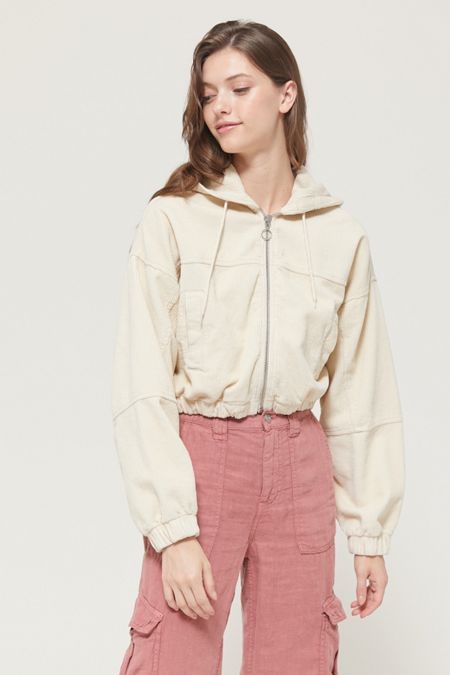 aa6ce9b0957b UO Corduroy Hooded Cropped Jacket