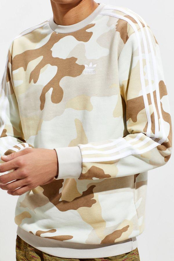 cheap for discount 341ae 3a423 adidas Camo Crew Neck Sweatshirt