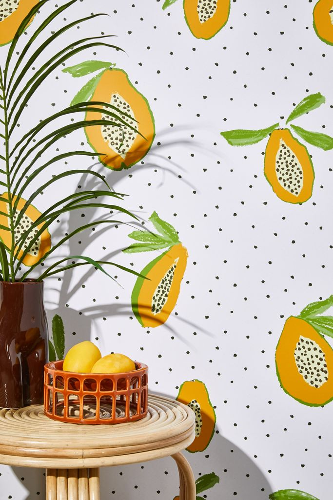 Papaya Removable Wallpaper Urban Outfitters