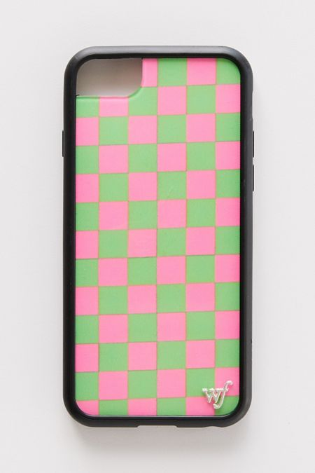 48f9567a81 Wildflower UO Exclusive Neon Pink + Green Checks iPhone Case. Quick Shop