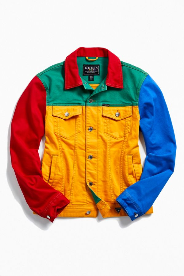 26722e0658f GUESS X J Balvin Vibras Colorblock Denim Jacket