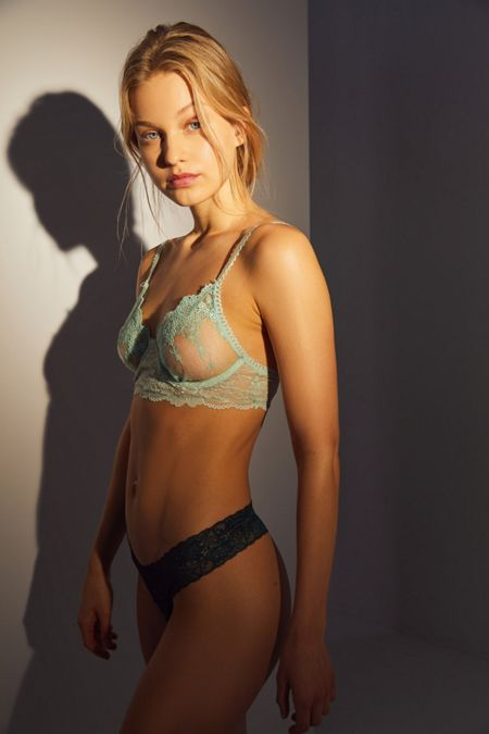 Next To Nothing Delphine Embroidered Mesh Underwire Bra. Quick Shop 6a2aba8cf