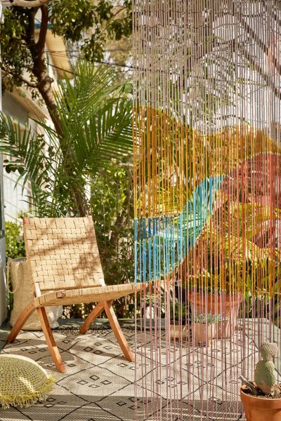 Landscape Bamboo Beaded Curtain Urban Outfitters