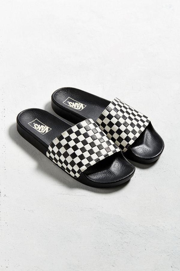 15f019898edd Vans Slide-On Checkerboard Sandal | Urban Outfitters
