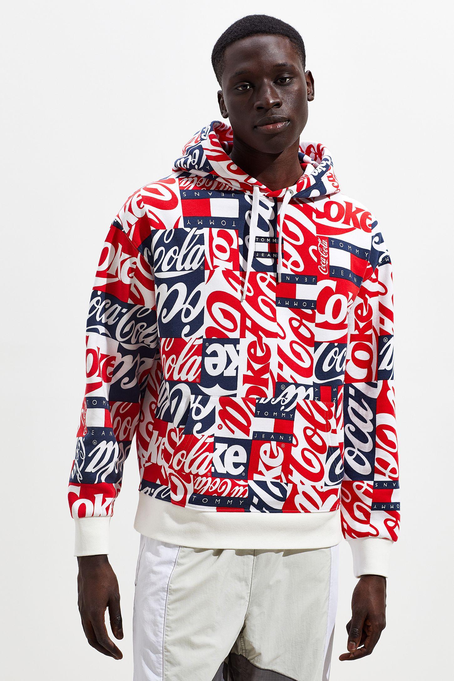 3b73bd44fc4 Tommy Jeans X Coca-Cola Allover Print Hoodie Sweatshirt