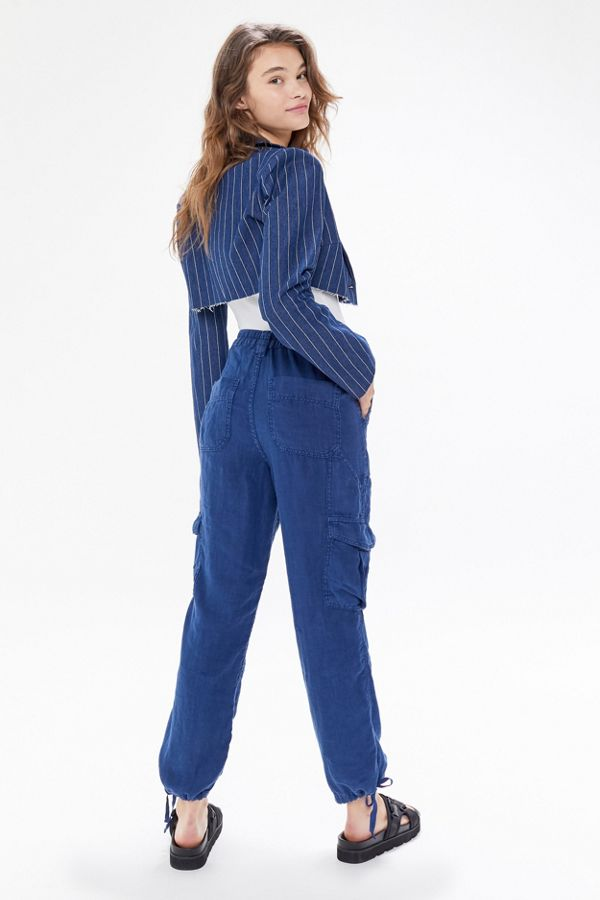 Uo Linen Cargo Skate Pant by Urban Outfitters
