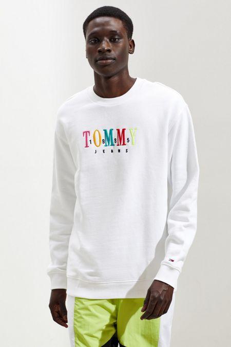 029d93e5 Tommy Jeans Multicolor Logo Crew Neck Sweatshirt
