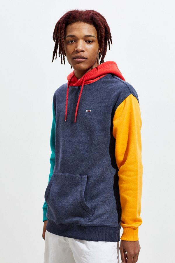 4a01f2c8 Tommy Jeans Colorblock Hoodie Sweatshirt | Urban Outfitters