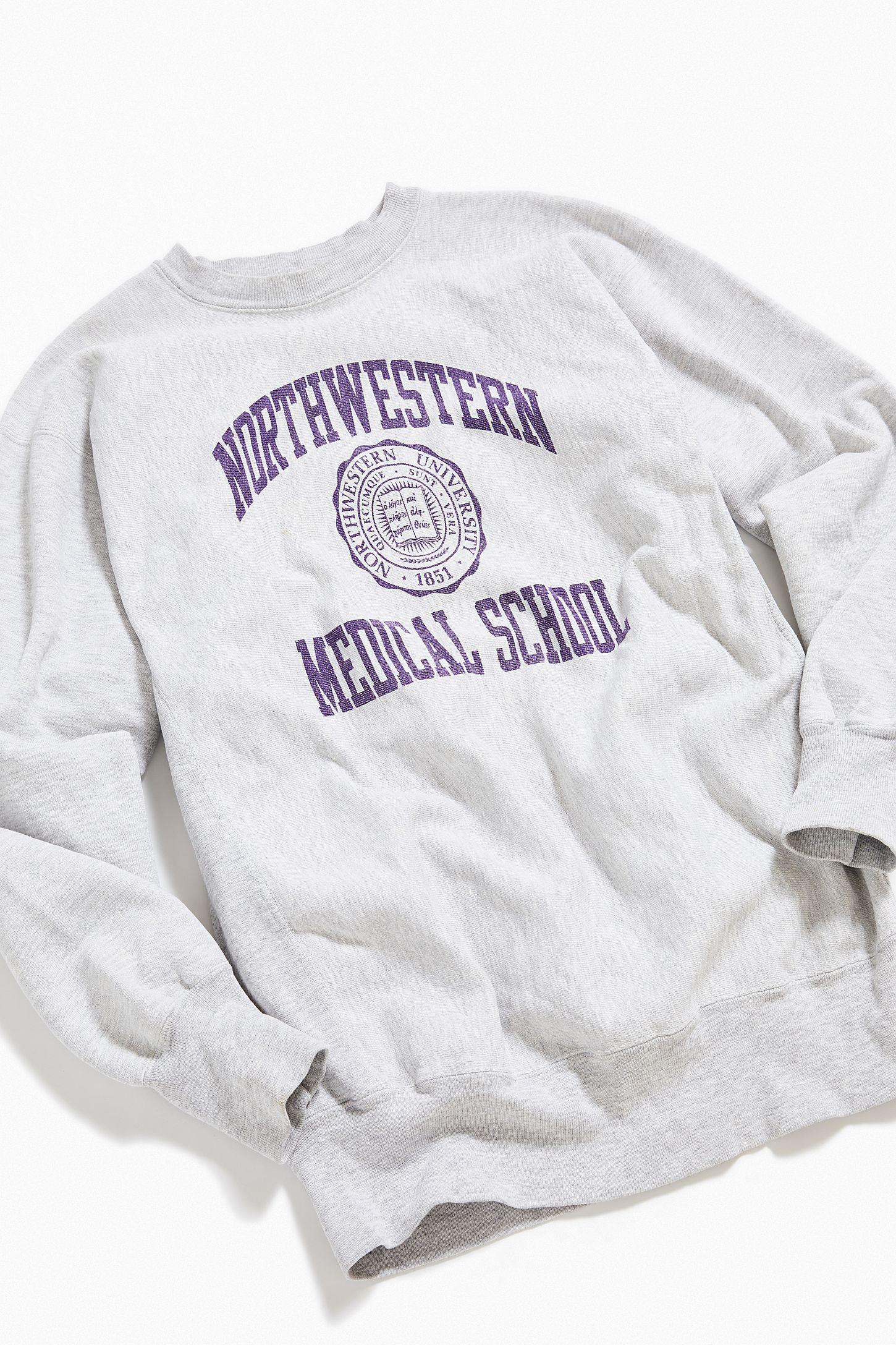 Vintage Northwestern Medical School Crew-Neck Sweatshirt