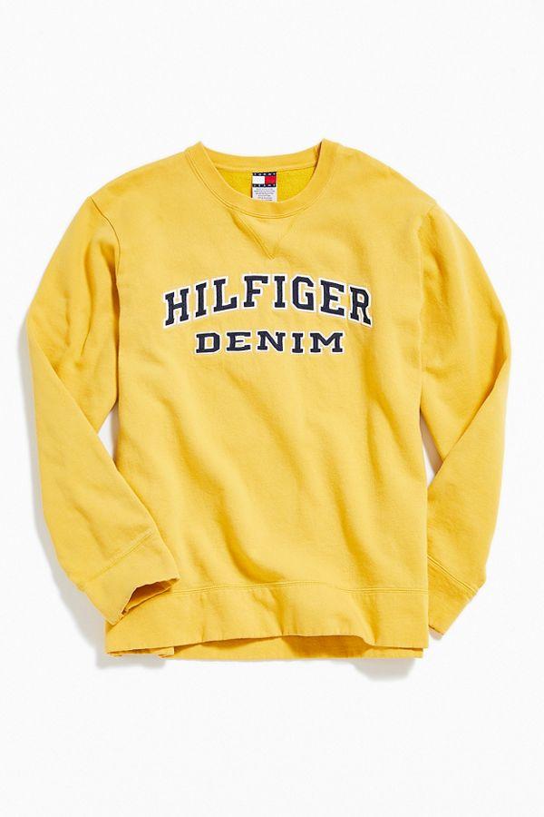 a7436b08 Vintage Tommy Hilfiger Denim Crew-Neck Sweatshirt | Urban Outfitters ...