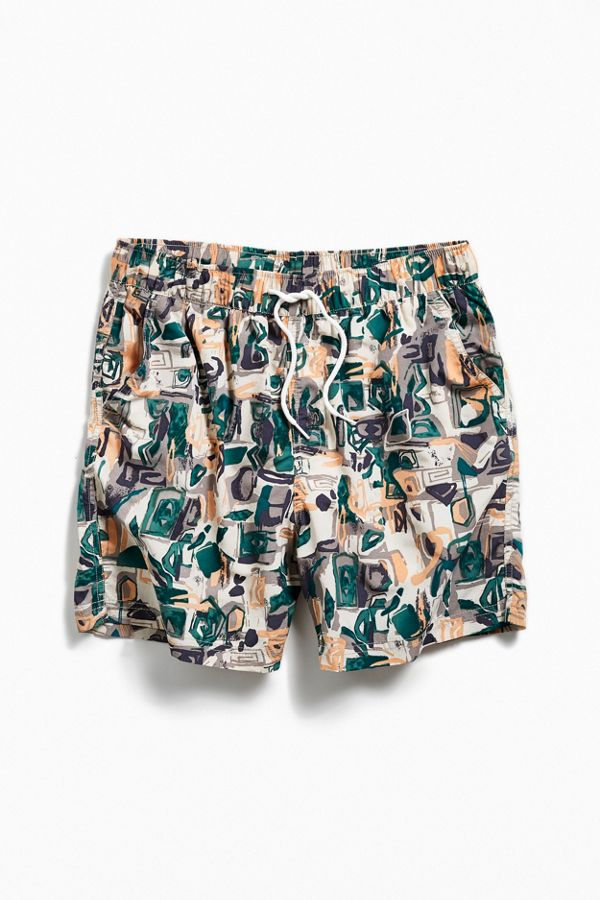 3d580c2fa7 UO Printed Swim Short   Urban Outfitters