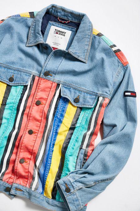 b2d48a29f Tommy Jeans Stripe Denim Jacket