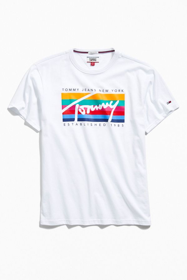 de4641ed Tommy Jeans Rainbow Box Tee | Urban Outfitters