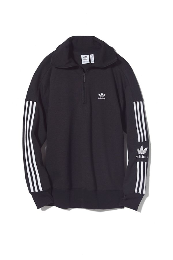 adidas 3 Stripes Half Zip Sweatshirt
