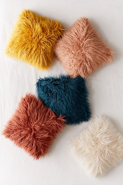 Picture of: Mila Faux Fur Throw Pillow Urban Outfitters