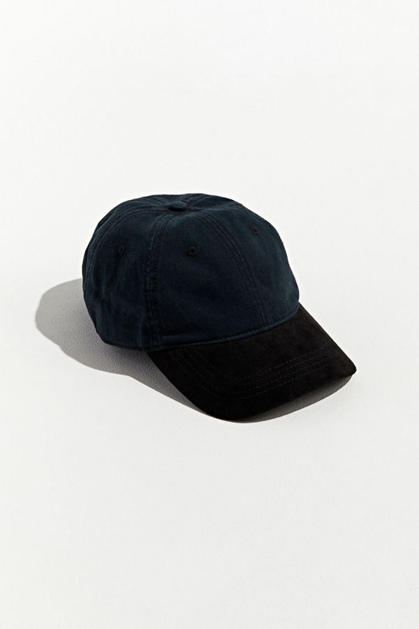 d54d2145f2e6 UO Colorblock Suede Brim Baseball Hat   Urban Outfitters