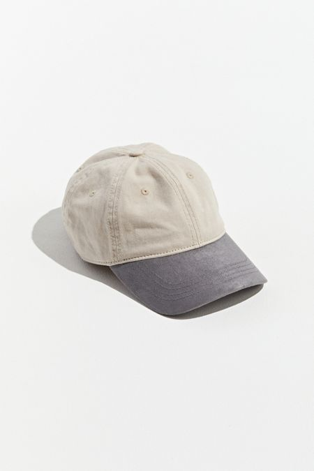 c7bfee104a3c5 UO Colorblock Suede Brim Baseball Hat
