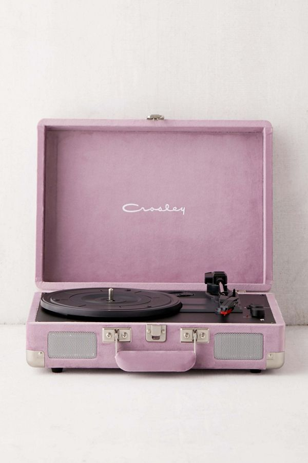 Crosley Uo Exclusive Mauve Velvet Cruiser Bluetooth Record Player by Crosley