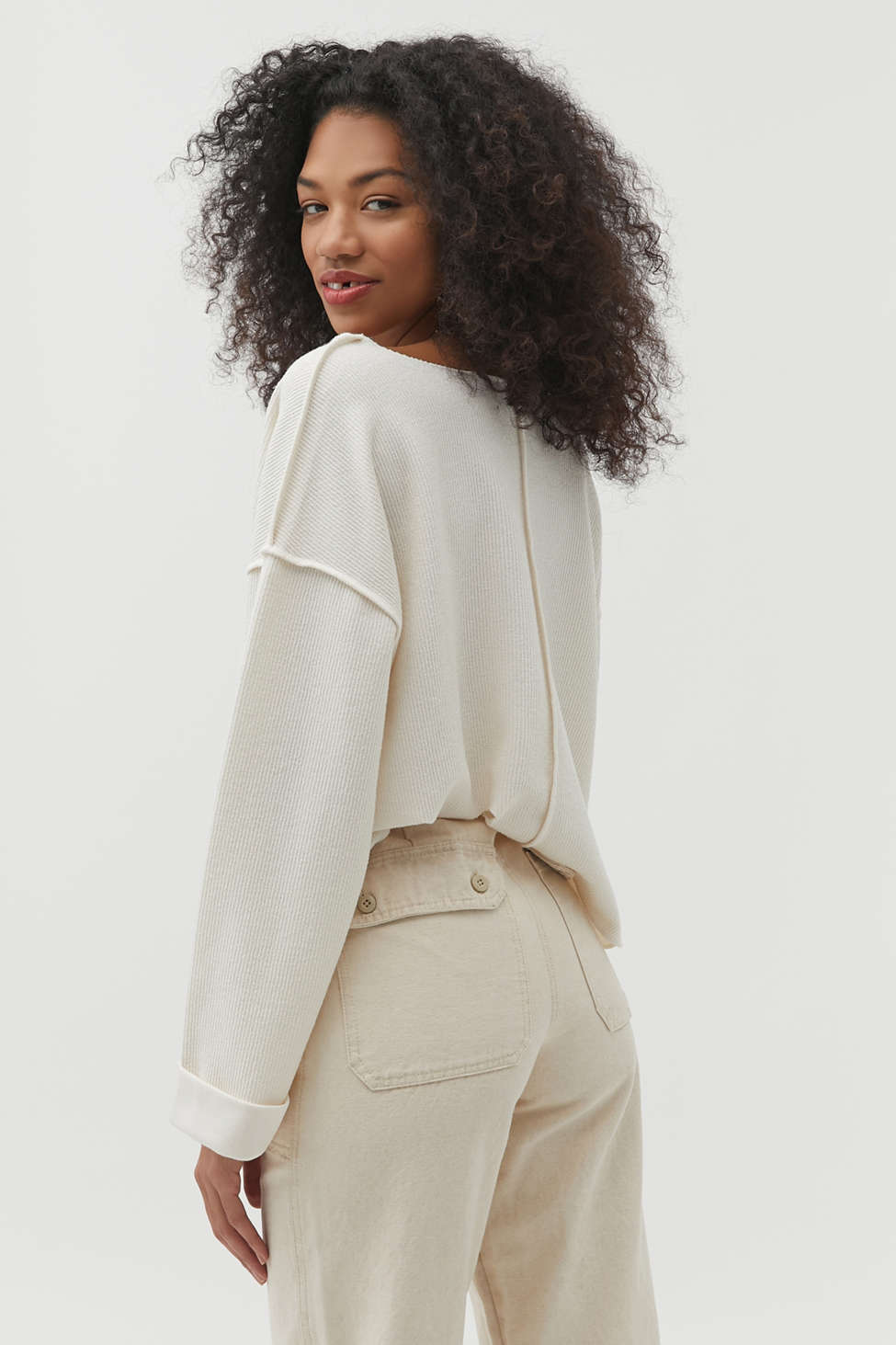 UO Jax Inside Out Notch Neck Top | Urban Outfitters