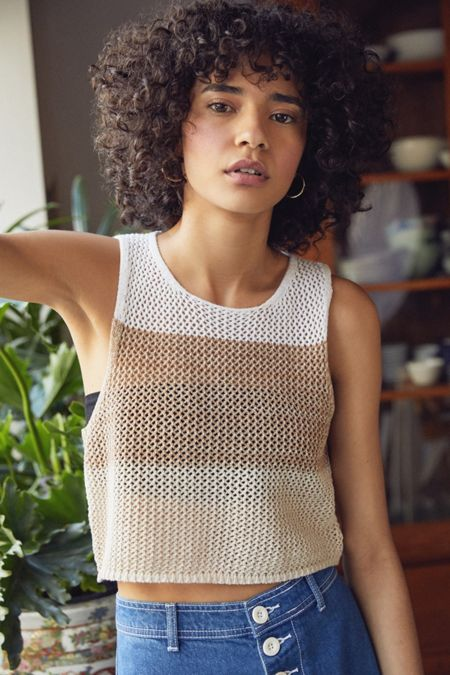 8eb6a7fda Crochet Cropped Sweater Tank Top