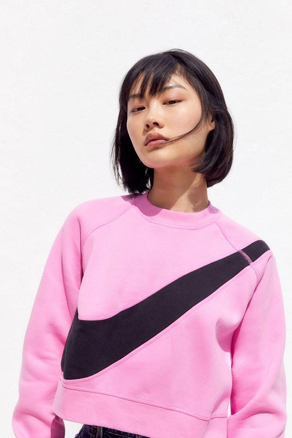 nike swoosh hoodie sweatshirt pink