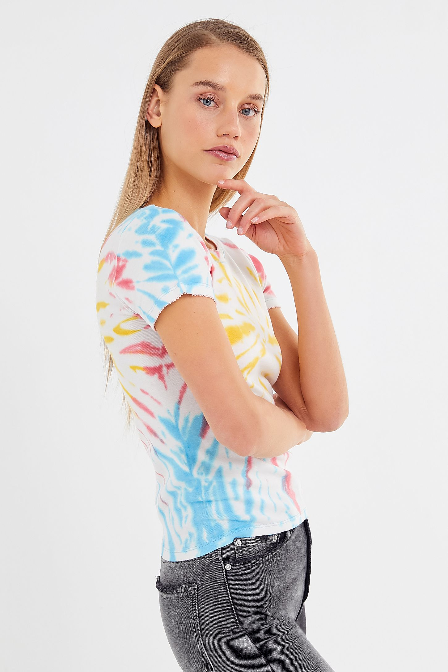 a68774a53 UO Poppy Tie-Dye Tee | Urban Outfitters