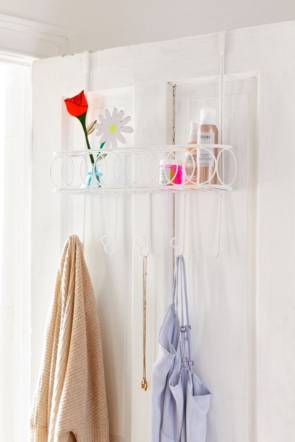 Kayleigh Over The Door Multi Hook Shelf by Urban Outfitters
