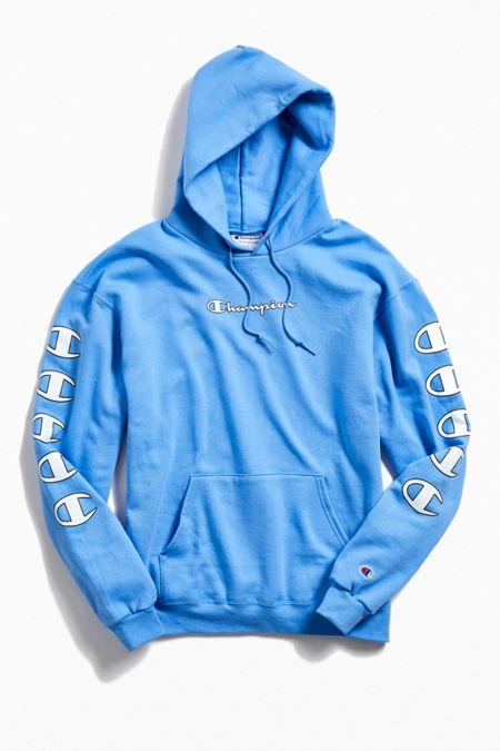 a326c252b89a Champion Eco Fleece Repeat Logo Hoodie Sweatshirt