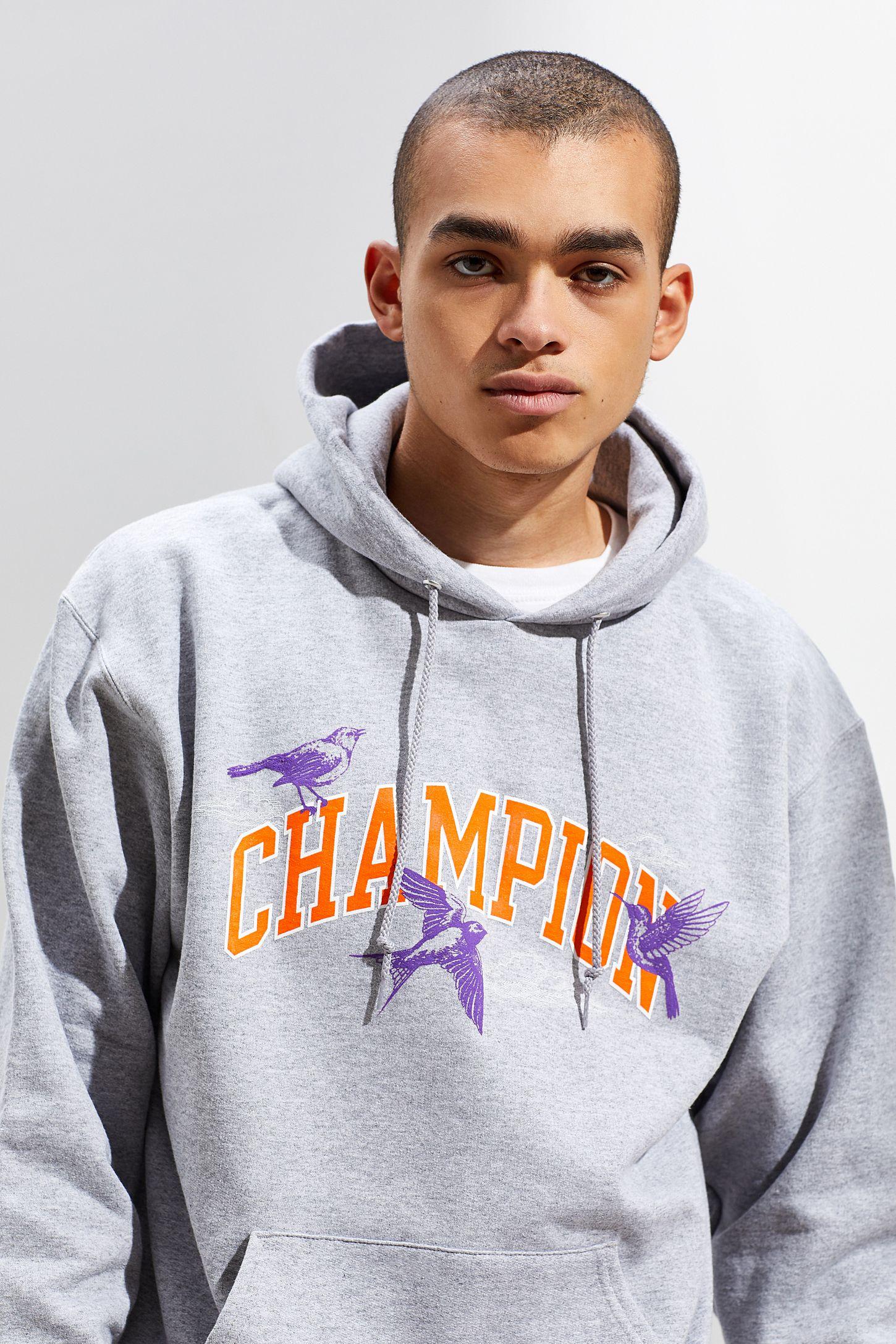 parhaiten rakastettu 100% laatu paras tukkumyyjä Champion UO Exclusive Eco Fleece Bird Print Hoodie Sweatshirt
