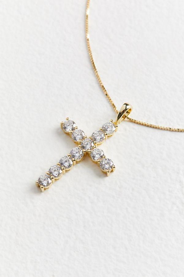 e023414ac6c8a The M Jewelers Bella Pavé Cross Necklace