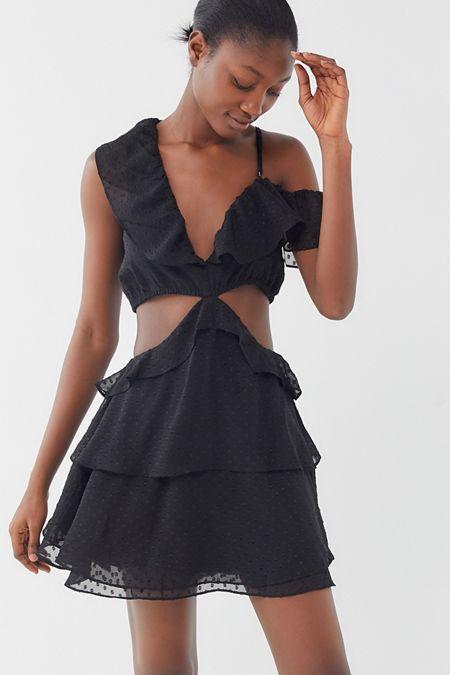 8074211881e Lioness Flamenco Cutout Ruffle Mini Dress